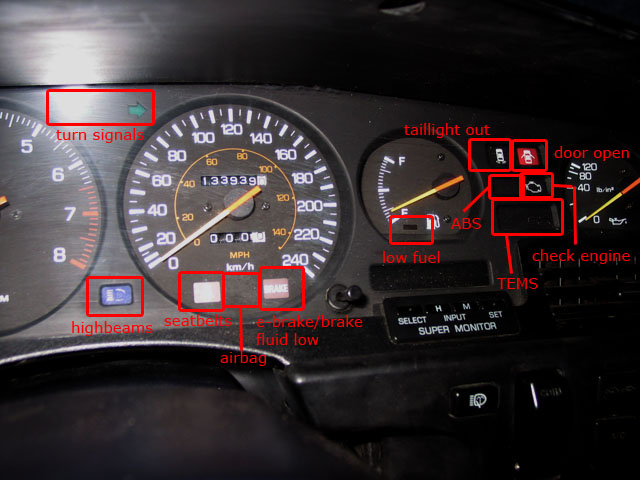 Pictures Of Toyota Sienna Instrument Panel Lights
